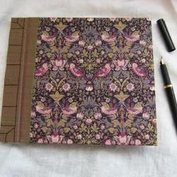 "Wedding Guest Book - Liberty Tana Lawn - Strawberry Thief - 8"" x 7"" - Ready to Ship"