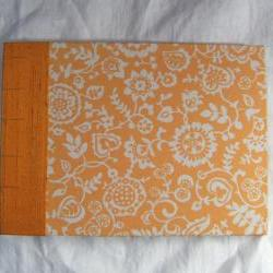 "Wedding Guest Book - Liberty Print - Yellow & White - 9"" x 6.5"" - Ready to Ship"